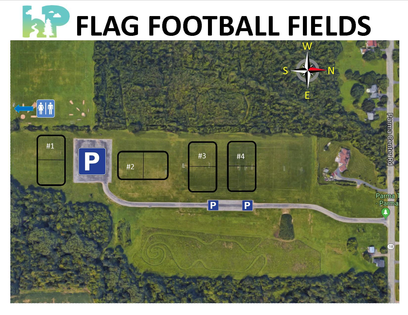 2019 Flag Football Field Map - Official